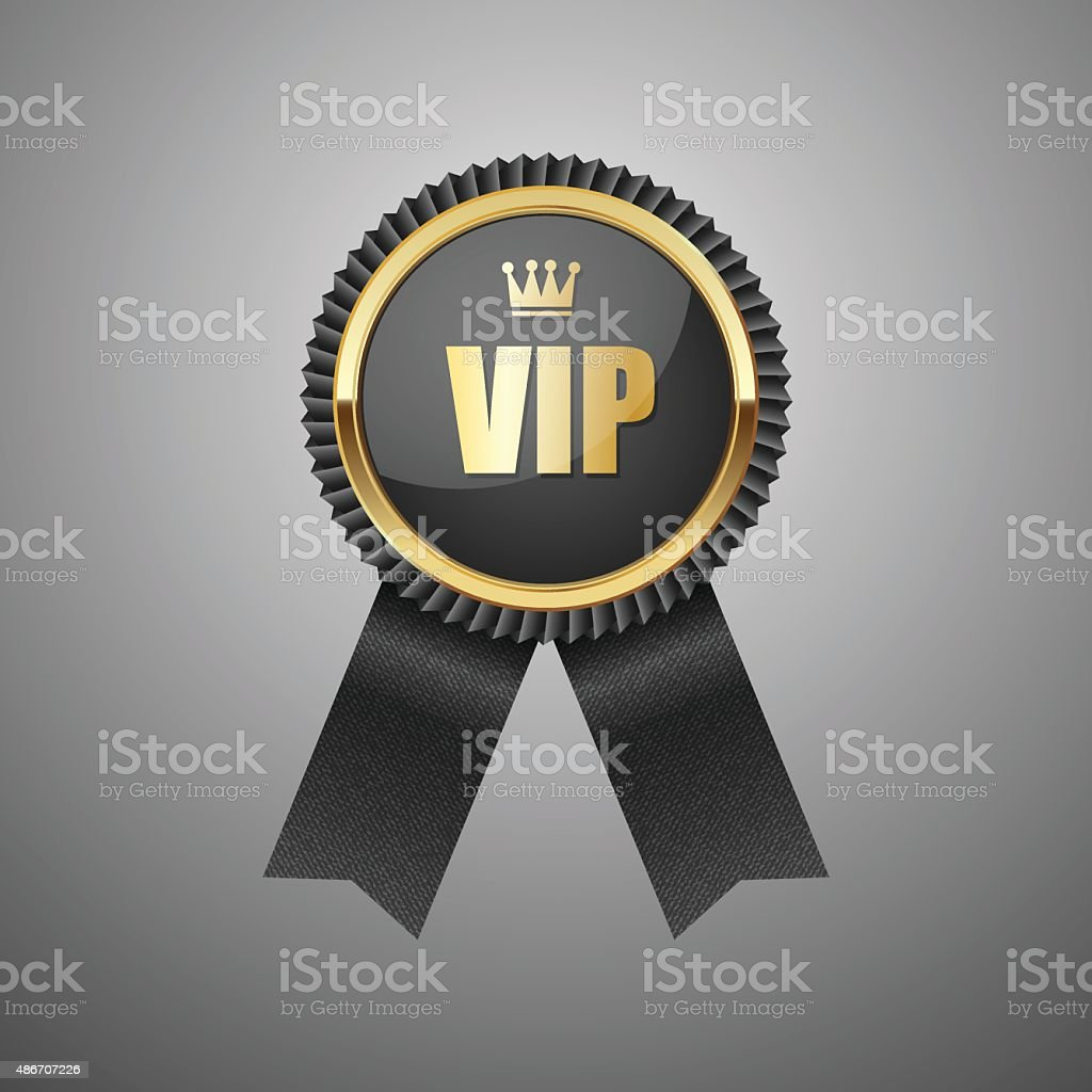 Vip black label.vector vector art illustration