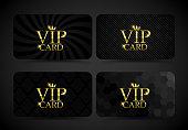 Vip card set VECTOR - collection