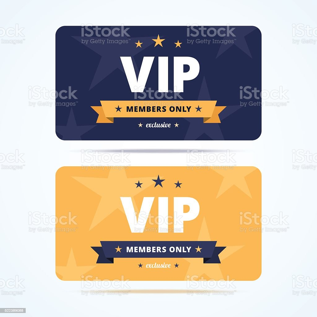 Vip club cards. vector art illustration