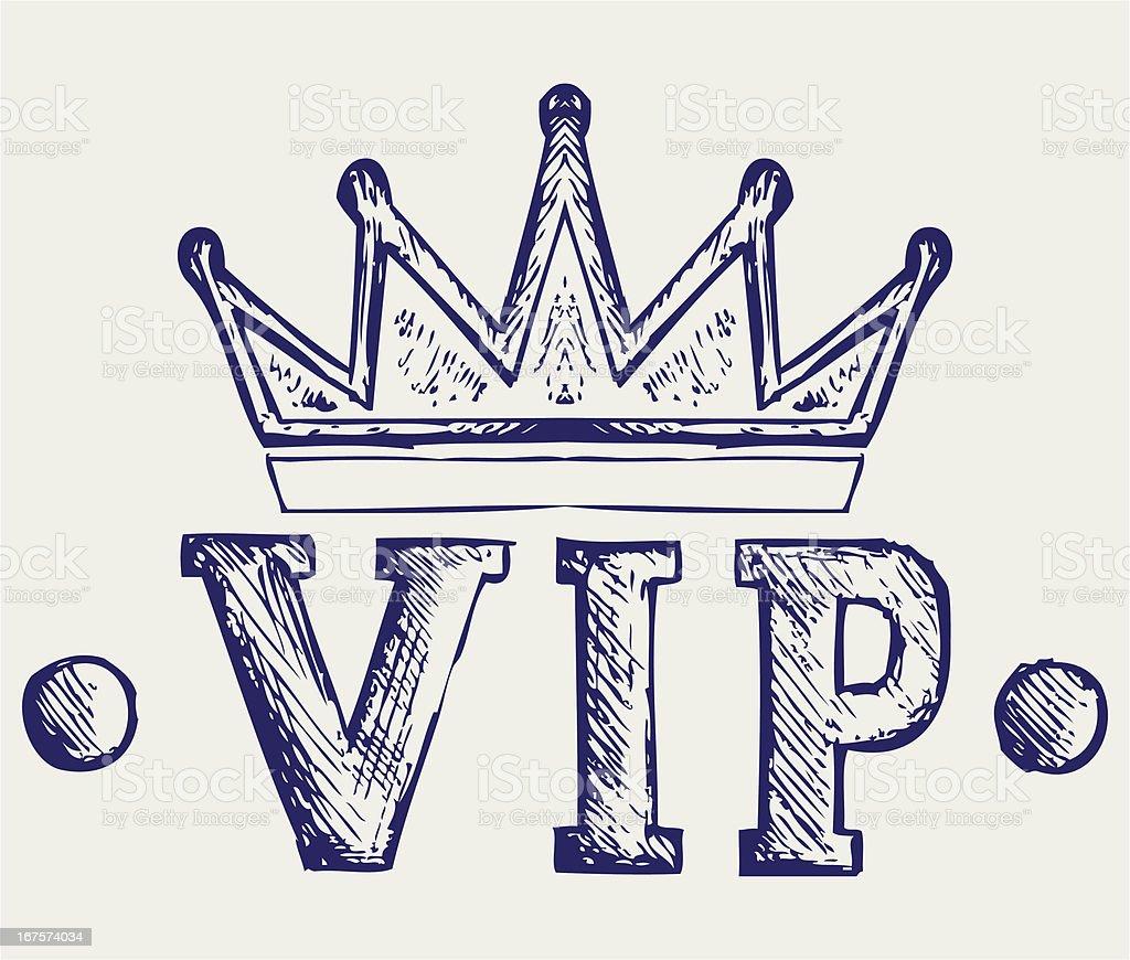 Vip crown symbol royalty-free stock vector art