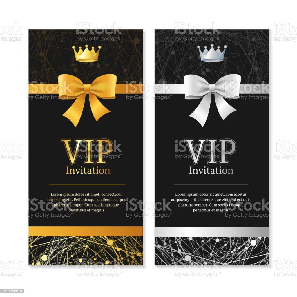 Ilustración De Invitación Vip Y Juego De Tarjetas Vector De