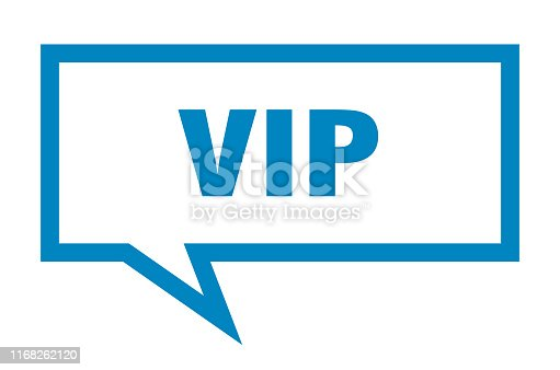 vip sign. vip square speech bubble. vip
