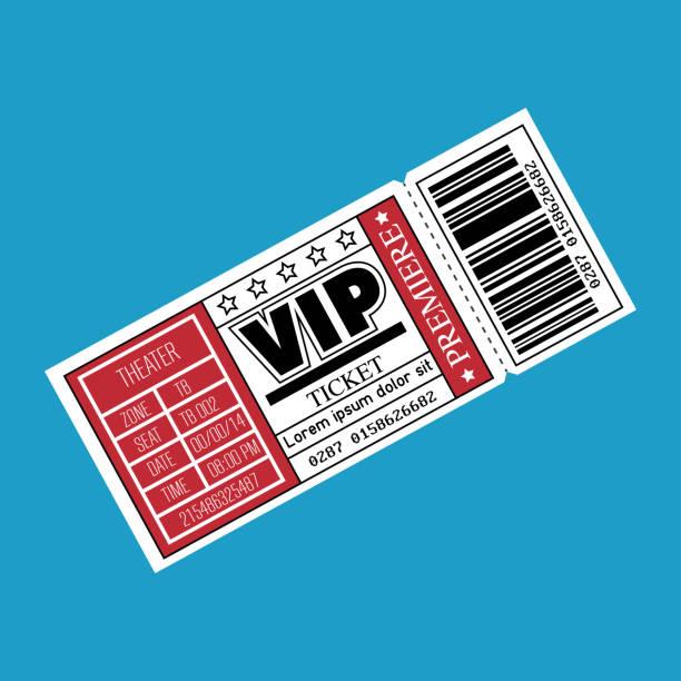icono de entrada de boleto VIP - ilustración de arte vectorial