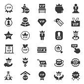 Vip vector icon set