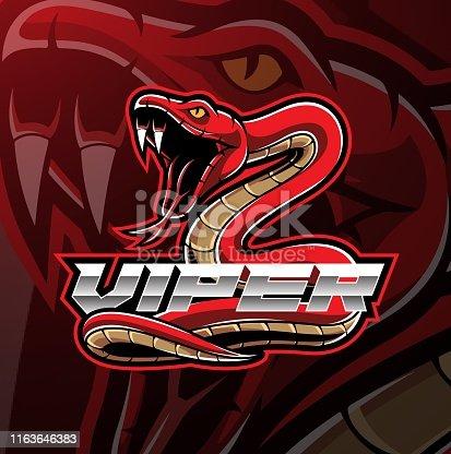 Illustration of Viper snake mascot logo design