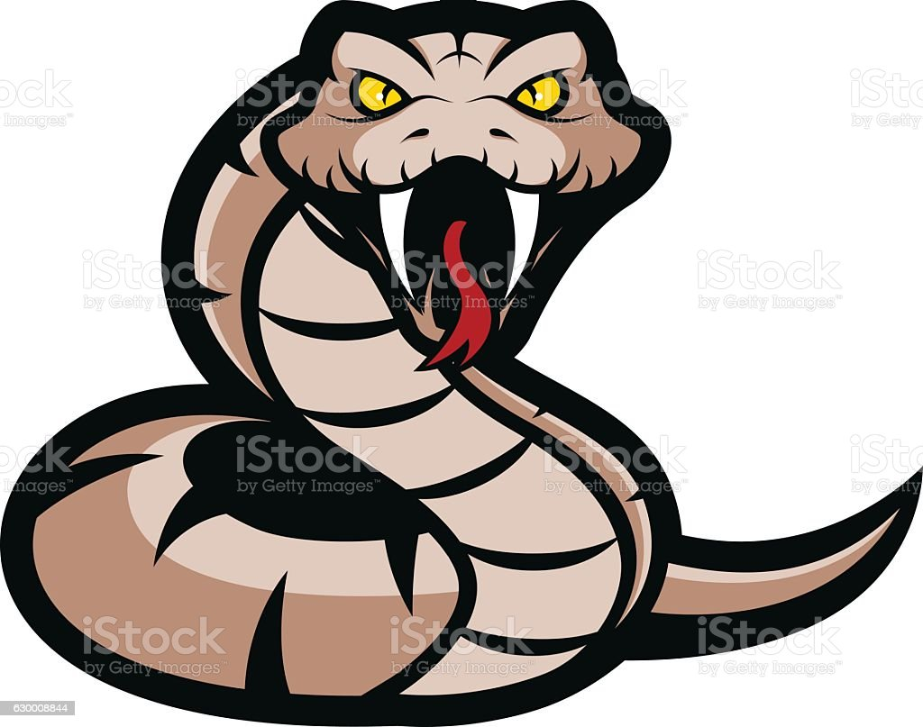 Viper snake mascot vector art illustration