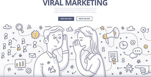 Viral Marketing Doodle Concept vector art illustration