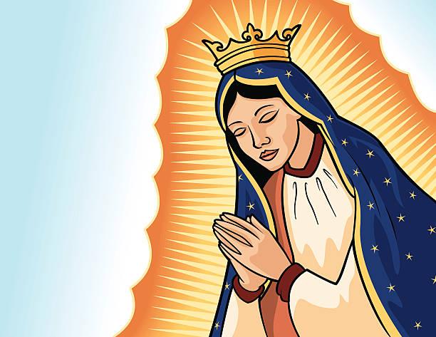 Virgen de Guadalupe vector art illustration