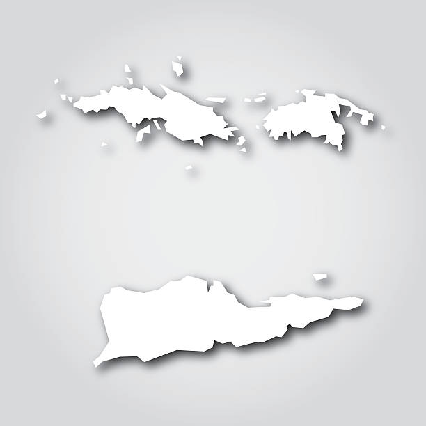 Best Us Virgin Islands Map Illustrations, Royalty-Free ...