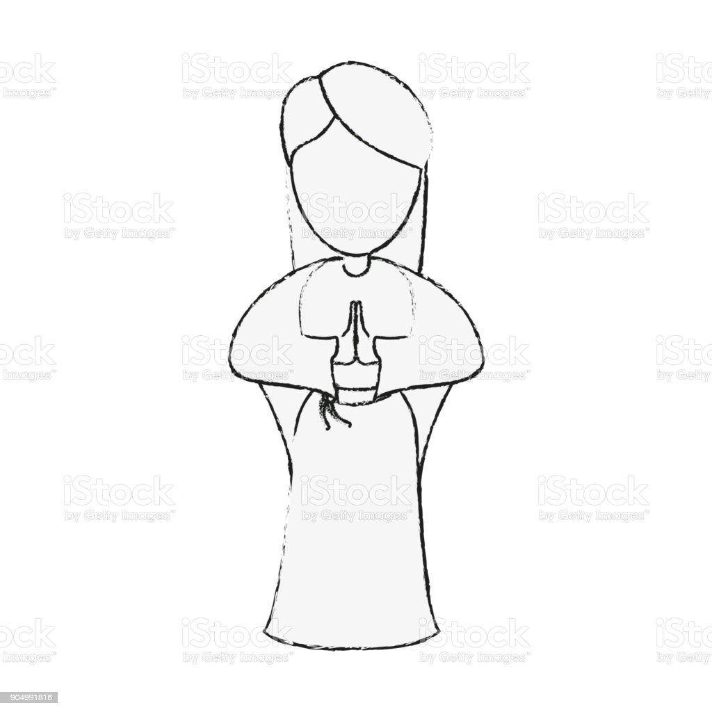 Ilustración De Dibujos Animados De La Virgen María Y Más Banco De