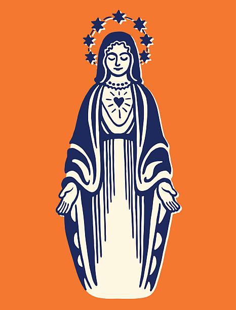 virgin mary - jungfrau stock-grafiken, -clipart, -cartoons und -symbole