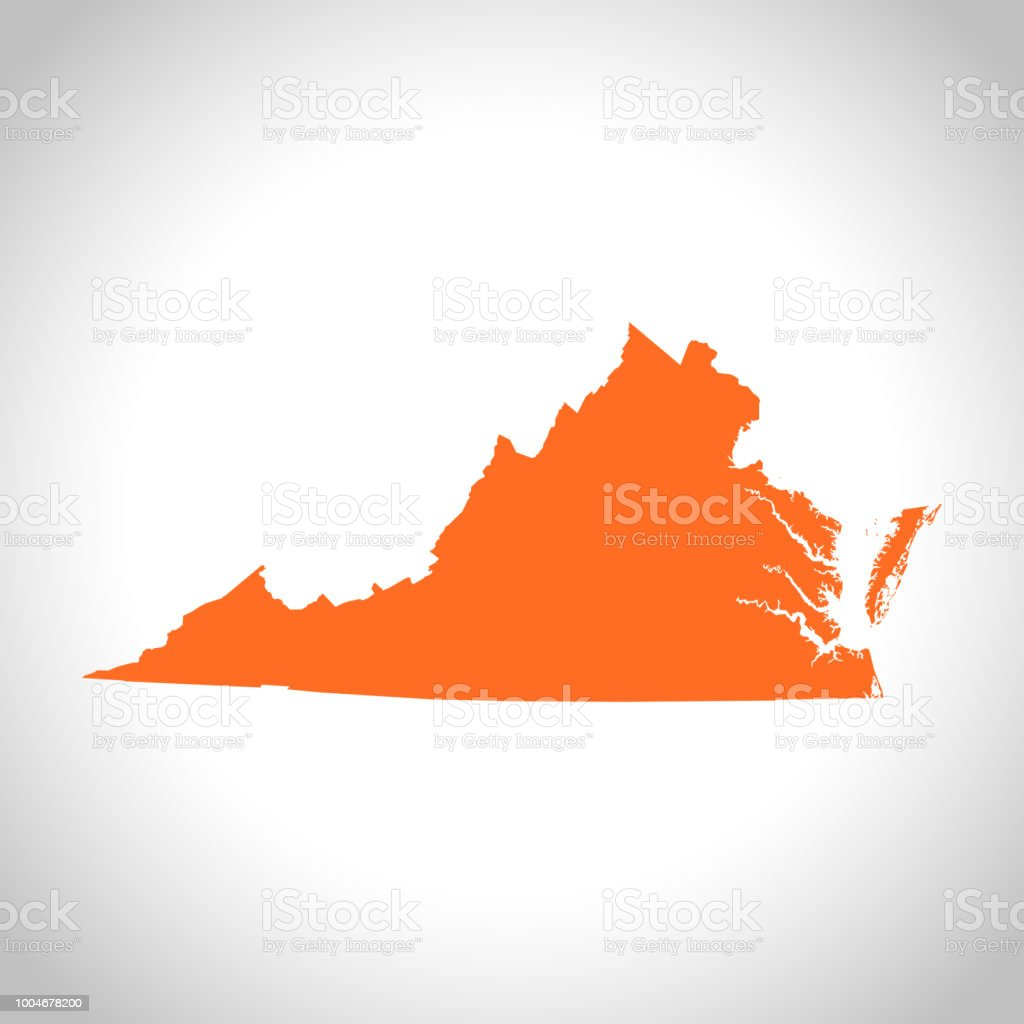 Virginia Map Stock Vector Art More Images Of Illustration
