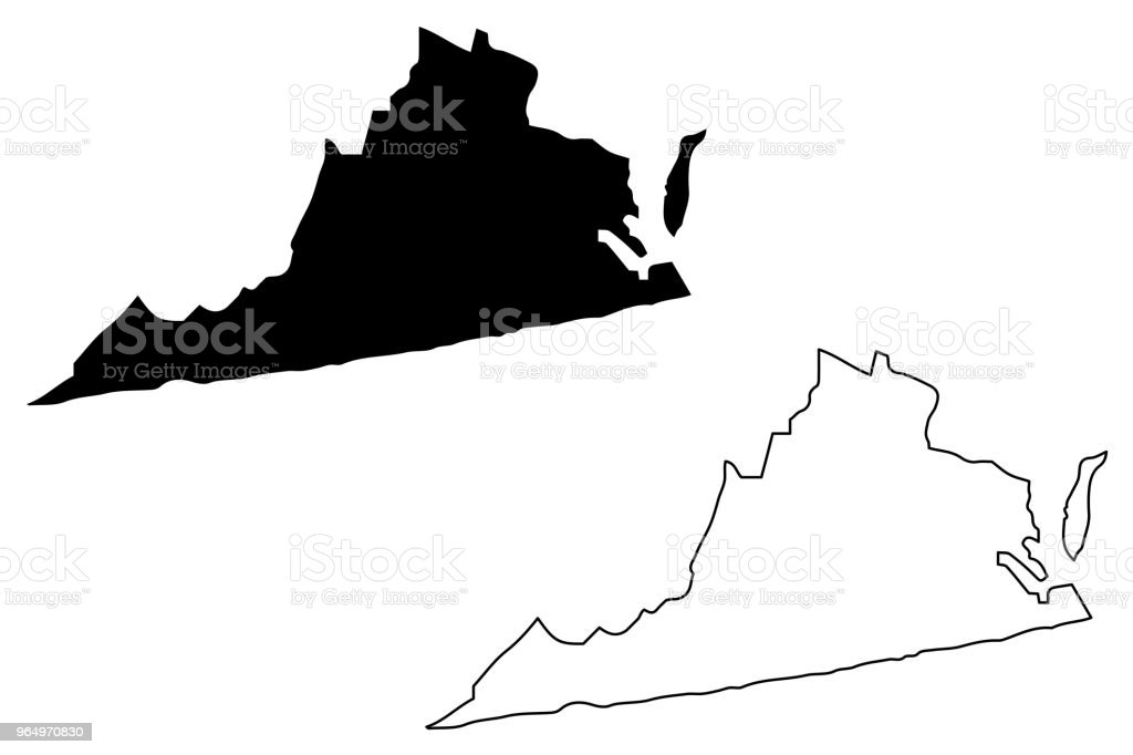 Ski Virginia Map.Virginia Map Vector Stock Vector Art More Images Of Abstract