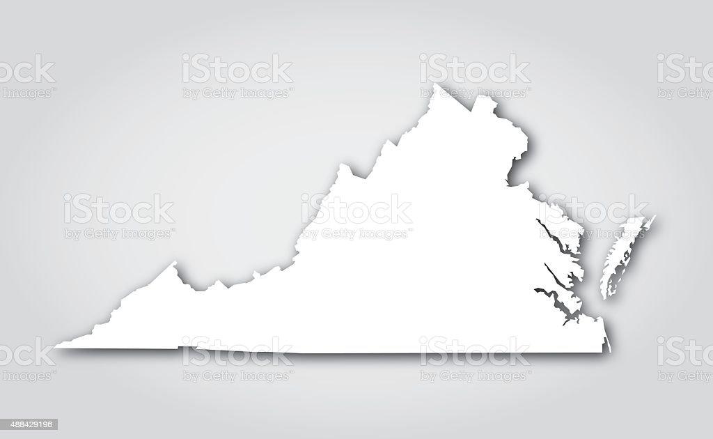 Virginia Silueta blanca - ilustración de arte vectorial