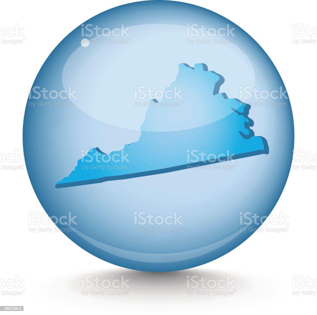 Virginia - Sphere State Series royalty-free virginia sphere state series stock vector art & more images of blue