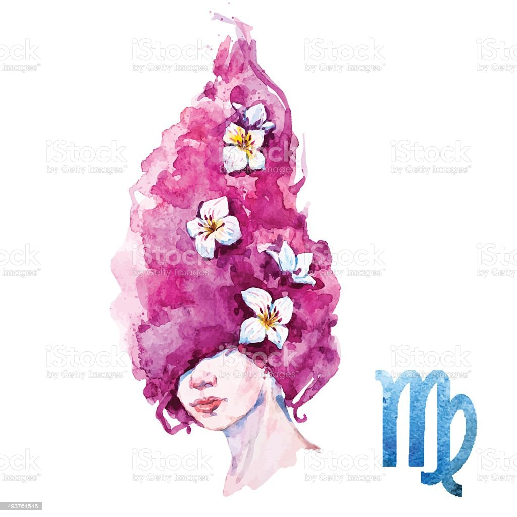 Virgo horoscope vector vector art illustration