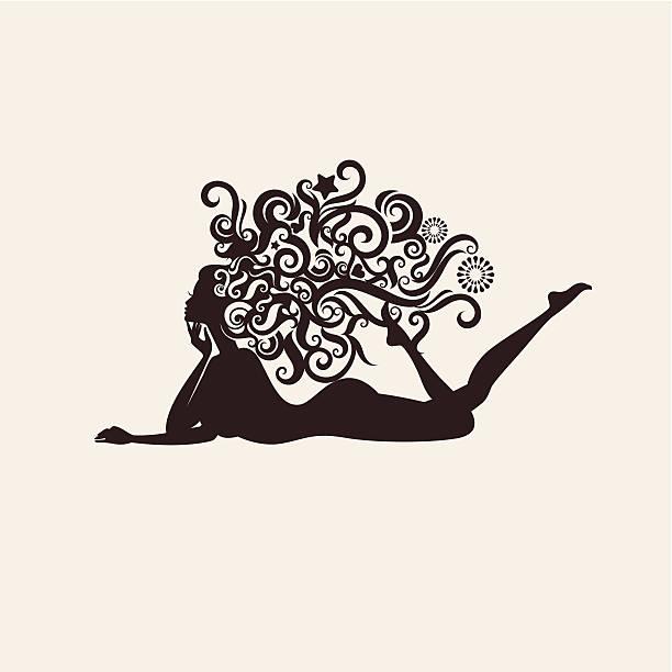Panna. – artystyczna grafika wektorowa