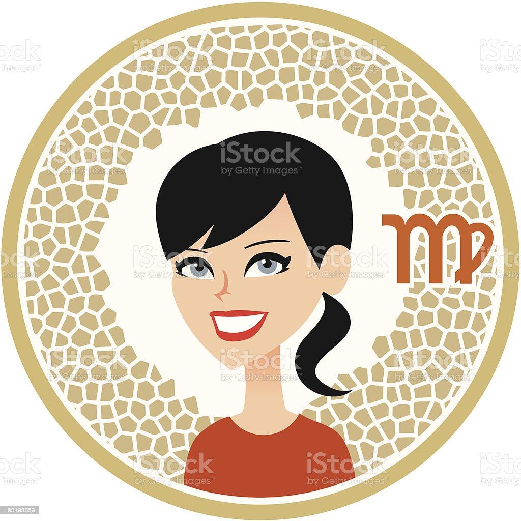 Virgo Zodiac Icon Collection royalty-free stock vector art