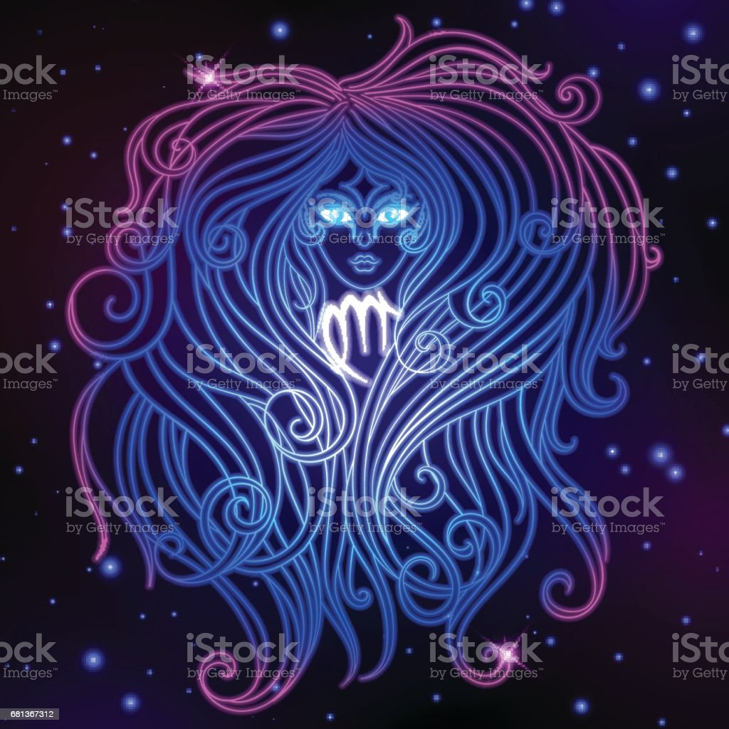 Virgo zodiac sign, horoscope symbol, vector illustration vector art illustration