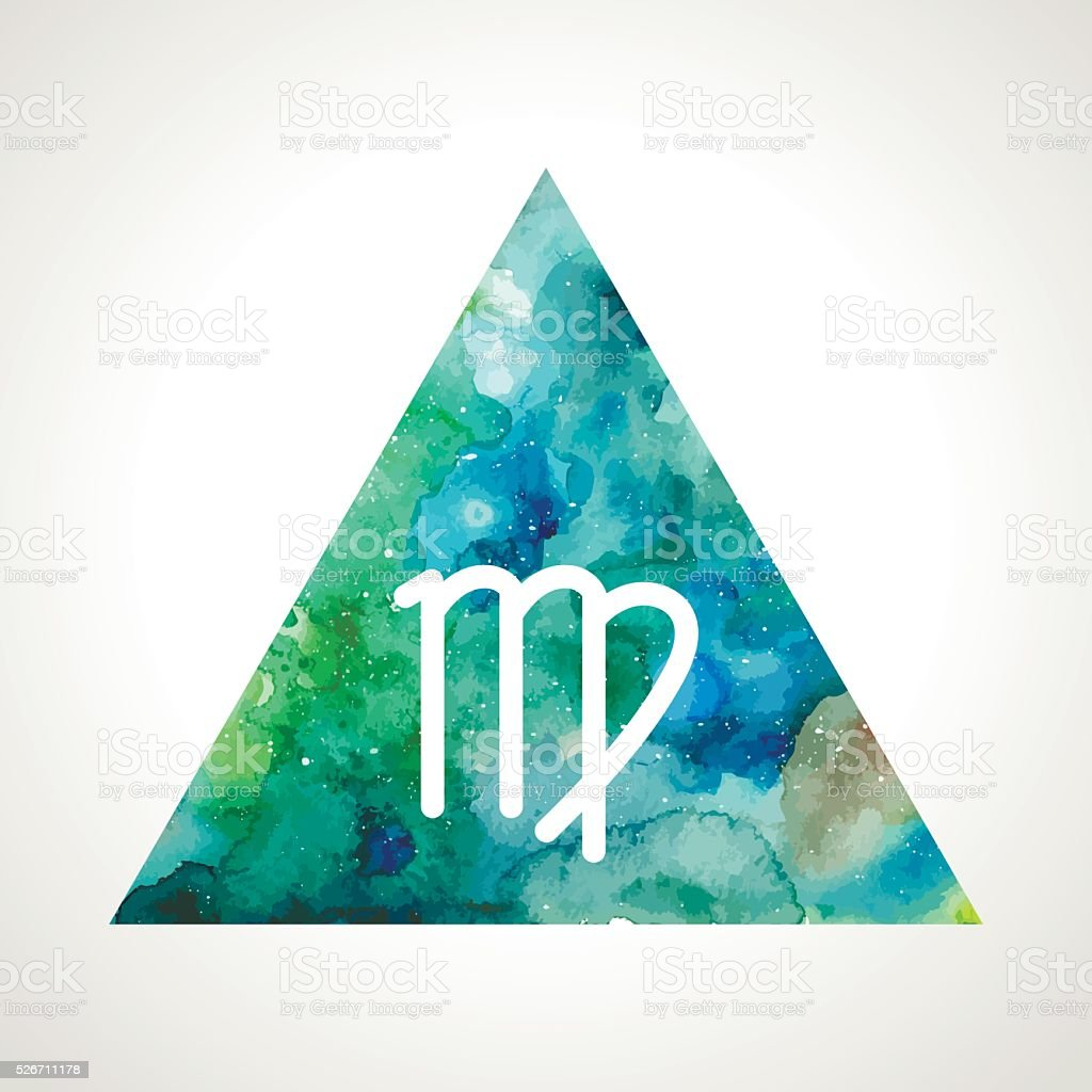 Virgo zodiac sign vector art illustration