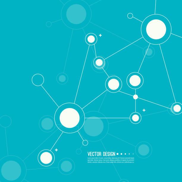 ilustraciones, imágenes clip art, dibujos animados e iconos de stock de fondo abstracto virtual. - conexión