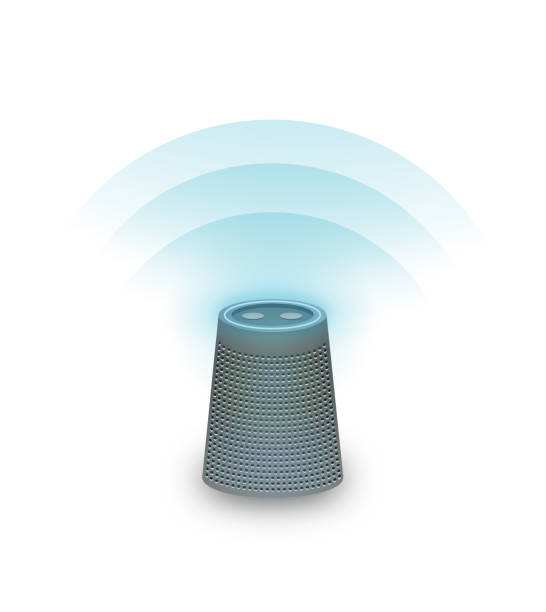 Virtuell assistent / Smart högtalare vektorkonstillustration