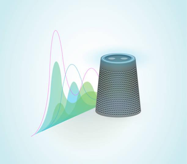 Tal igenkänning för Virtual Assistant vektorkonstillustration