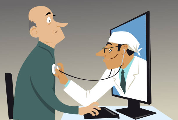 Royalty Free Telehealth Clip Art, Vector Images ...