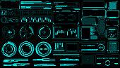 istock HUD Virtual Futuristic Elements Set Vector. 992879690