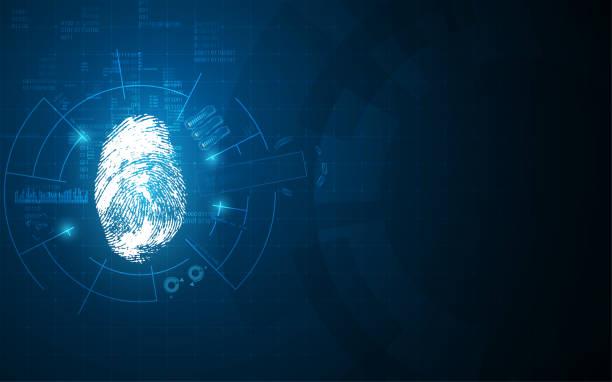 virtuelle hud-Identifikationssystem Gestaltungskonzept hallo tech – Vektorgrafik