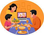 istock Virtual iftar dinner with family elders during Ramadan. 1224529653