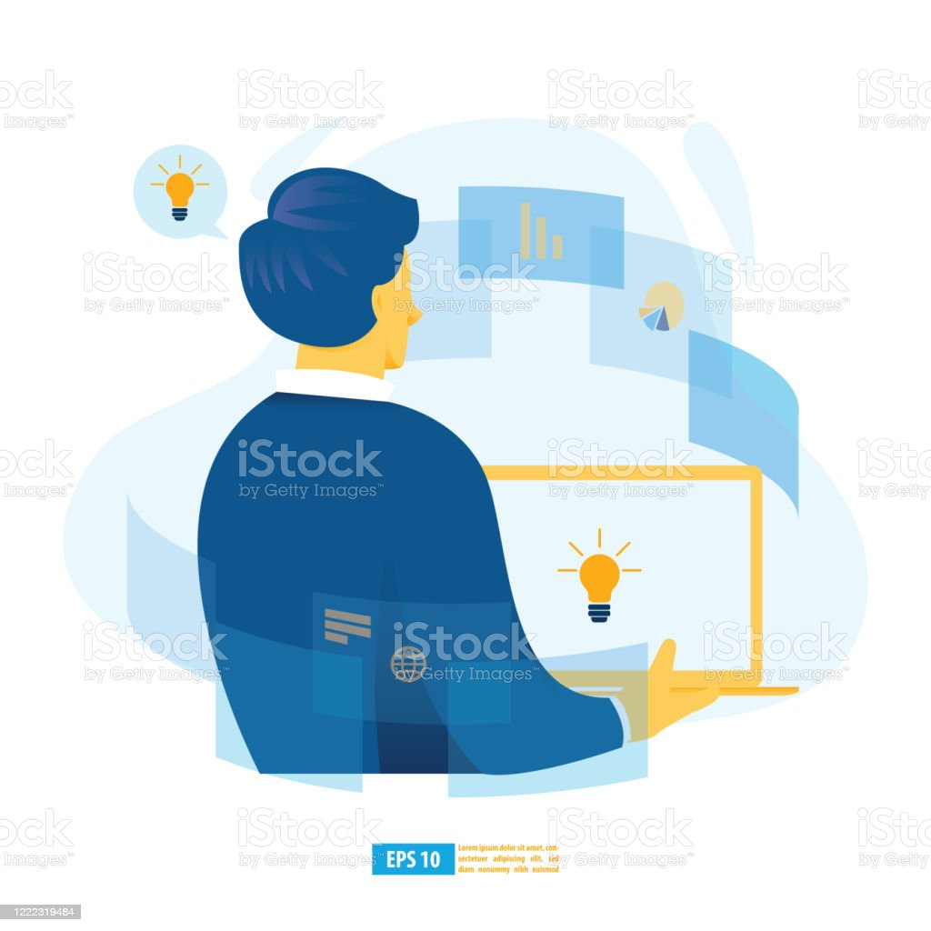 Virtual Learning Online Digital Training Elearning With Ai Online Education And Ebook Concept Modern Vector Illustration For Website And Mobile Application Stock Illustration Download Image Now Istock