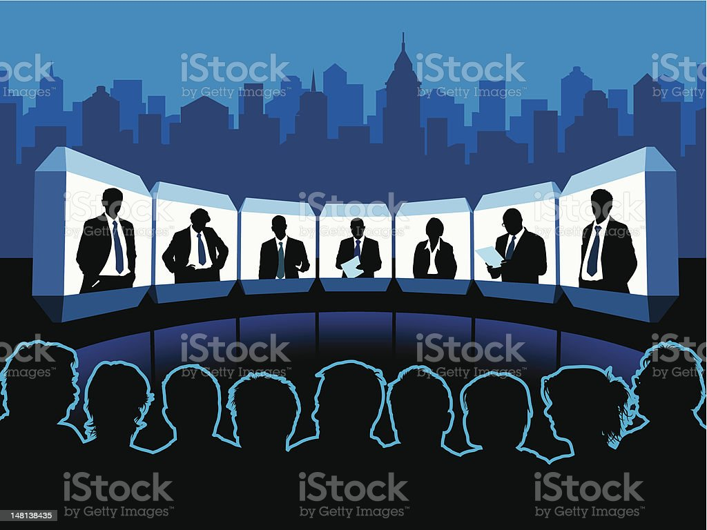 Virtual meeting royalty-free stock vector art