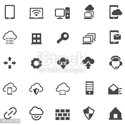 Virtual private network icon set