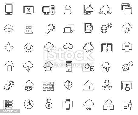 Virtual private network icon set