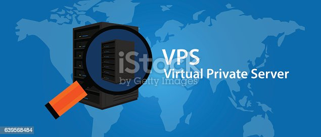 VPS Virtual private server web hosting services infrasctructure technology vector