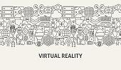 Virtual Reality Banner Concept