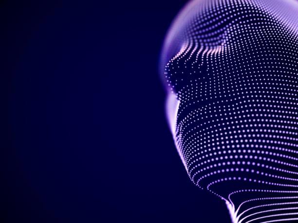 ilustraciones, imágenes clip art, dibujos animados e iconos de stock de concepto de realidad virtual: resumen visualización de la inteligencia artificial - inteligencia artificial