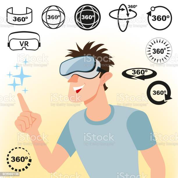 Virtual reality concept and set of icons vector id928969136?b=1&k=6&m=928969136&s=612x612&h=hnx5memwzkeafzbyffruw5lpqxwyom0ffuqjhmo3y4c=