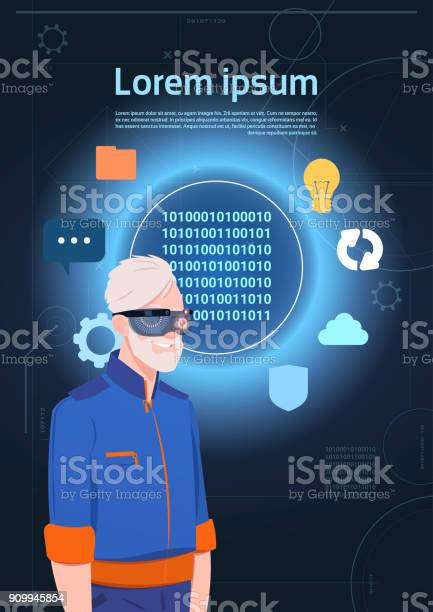 Virtual reality concept senior man wearing vr headset glasses over vector id909945854?b=1&k=6&m=909945854&s=612x612&h=kieuqzfptyg6v1vpkk4ntfqy2tsvq2cu4ijoiganmgk=