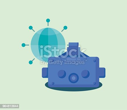 Virtual Reality Design Stock Vector Art & More Images of Abstract