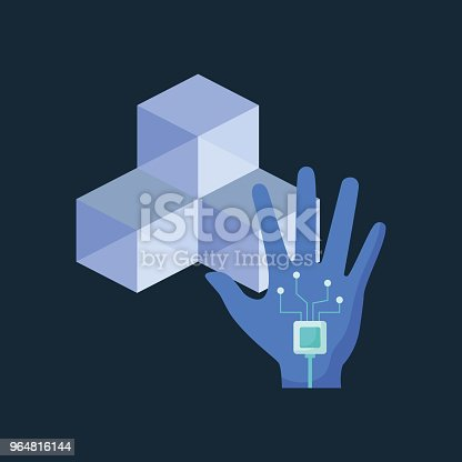 Virtual Reality Design Stock Vector Art & More Images of Abstract 964816144