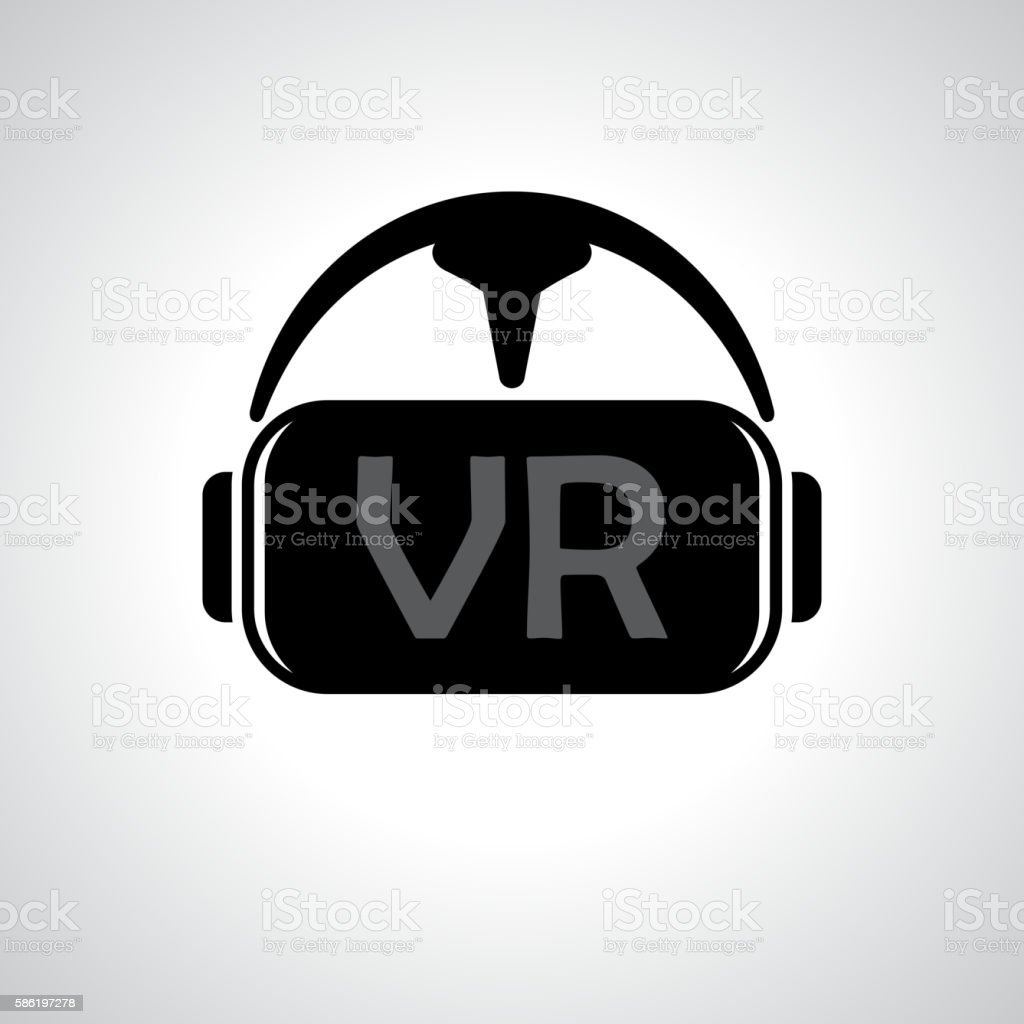 Virtual reality glasses background vector art illustration