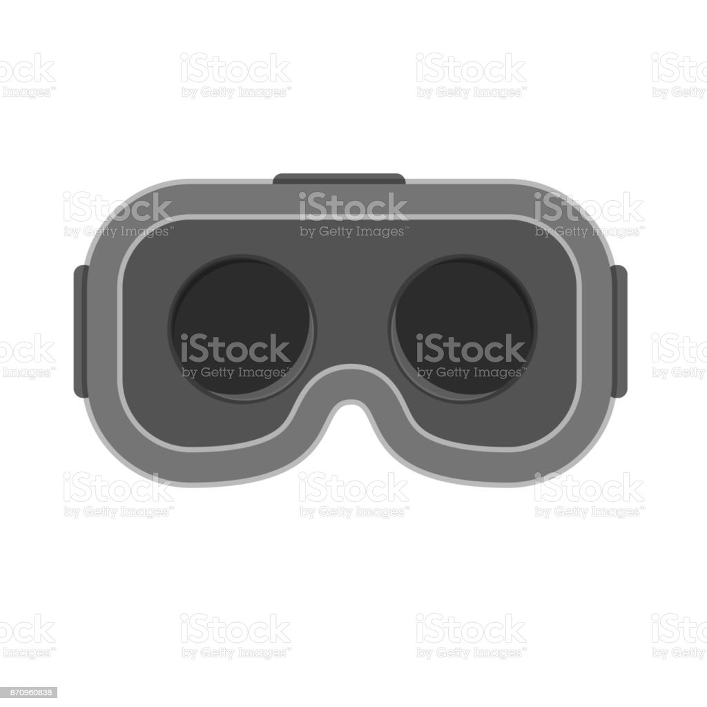 VR Virtual reality glasses headset isolated vector art illustration