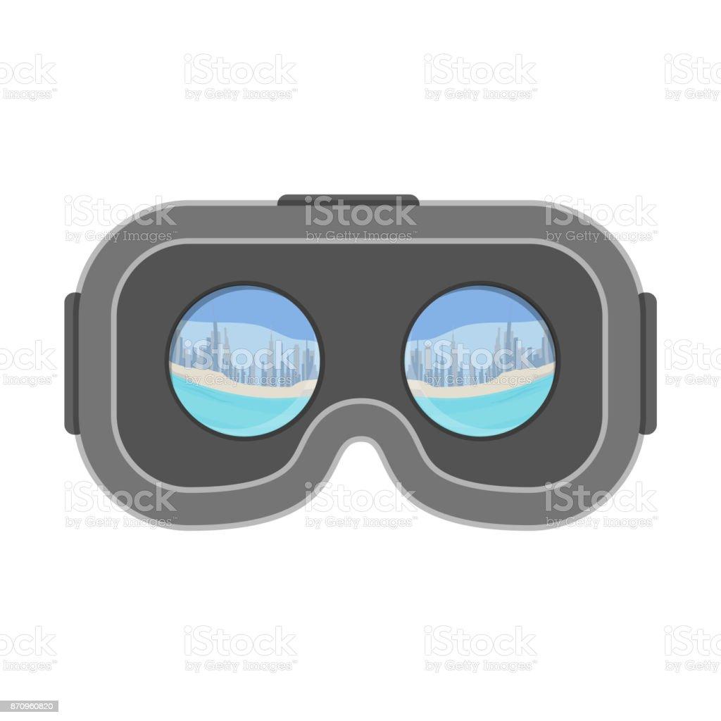 Casque de verres réalité virtuelle VR montrant vidéo 3d isolé sur fond  blanc casque de verres d58197f0bf96