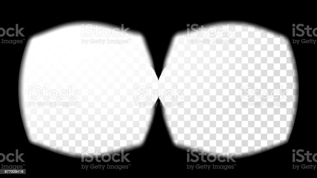 Ilustración de Realidad Virtual Gafas Vista Vista Vectorial ...