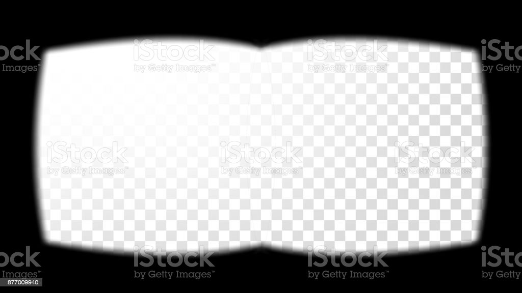 0fa3e675e4 Virtual Reality Glasses Sight View Vector. View From The 3D VR Helmet.  Screen Frame Template. Design 3D VR. Cyberspace. Soft Edges.