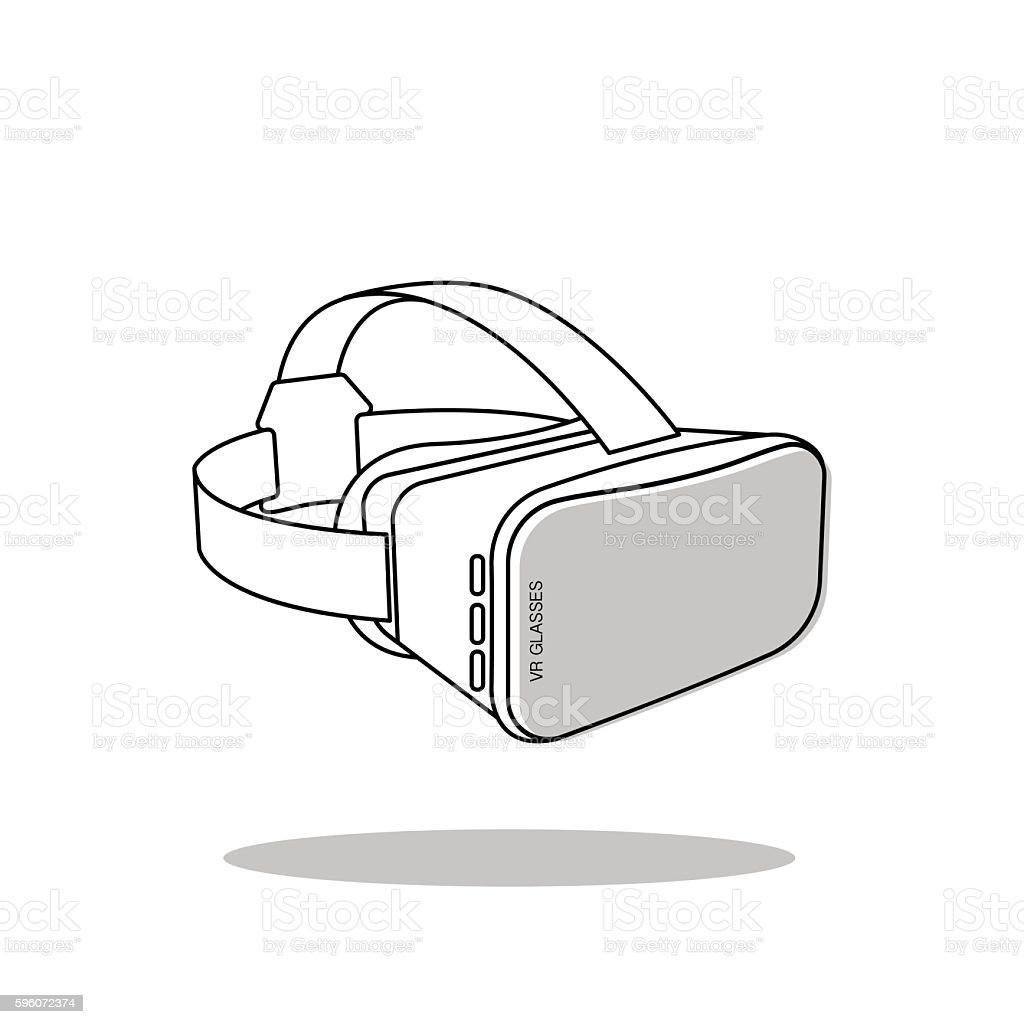 Virtual Reality (or VR) glasses - vector icon vector art illustration