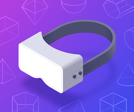 Virtual Reality Goggles 3D Shapes Abstract Background