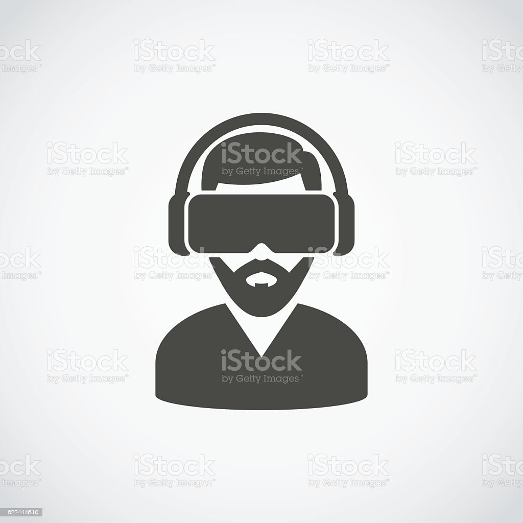 Virtual Reality Headset Icon vector art illustration